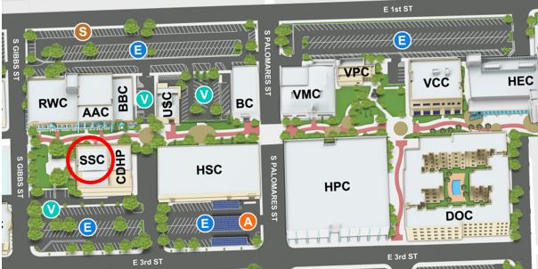 Student Services Center on the Campus Map